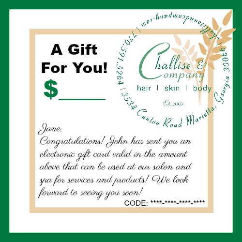 Challise & Company Electronic Gift Card