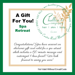 Spa Retreat Electronic Gift Card