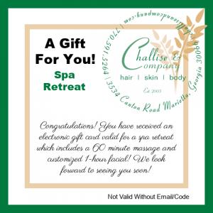 Spa Retreat Electronic Gift Card