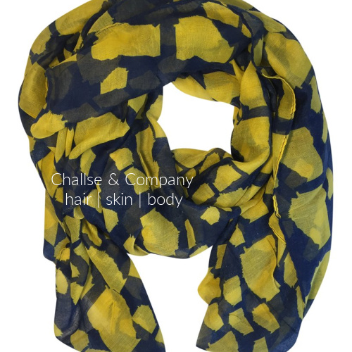 Georgia state shape Scarf (navy blue and yellow)