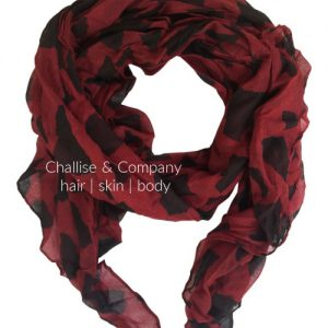 South Carolina state shape Scarf (garnet and black)