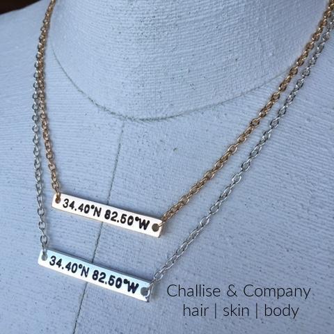 Clemson University football stadium coordinate necklace