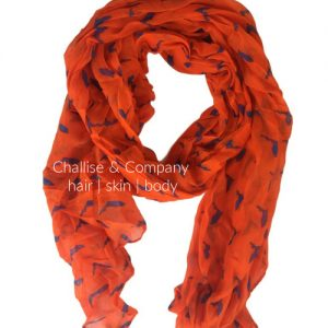 Florida state shape Scarf (orange and blue)