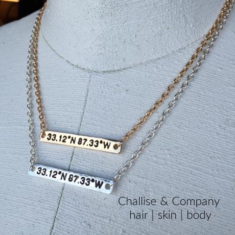 University of Alabama football stadium coordinates necklace